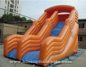 commercial high rail kids inflatable dry slide