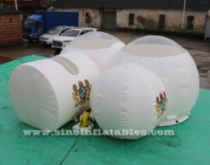 big white dome clear top inflatable camping bubble tent