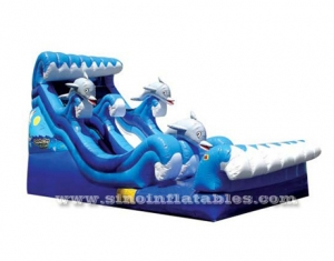 commercial grade kids inflatable dolphins water slide