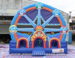 Ferris Wheel Clown Kids Inflatable bouncy castle with slide