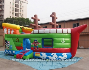 commercial grade kids inflatable pirate ship with slide