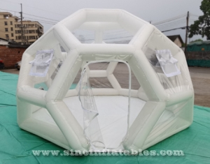 portable clear inflatable camping tent