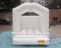 indoor toddler kids all white bouncy castle