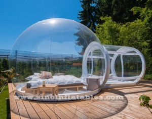 transparent inflatable bubble camping tent