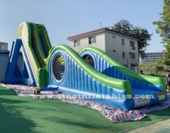9 meters high adults giant inflatable dropkick water slide