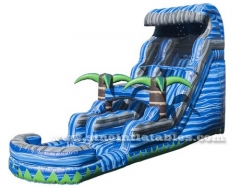 tropical laguna kids inflatable water slide with pool