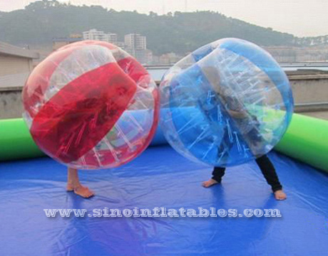 Inflatable zorbing
