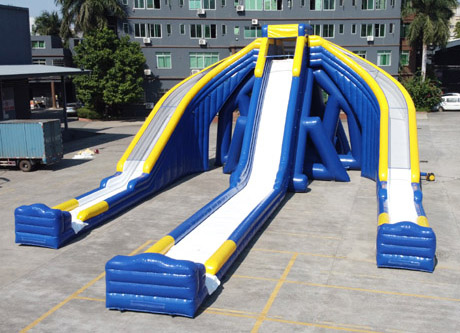 3 new giant inflatable triple water slides for adults had perfectly passed the customer's inspection and shipped away in the end of Nov. 2020