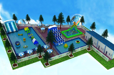 For the coming 2018 summer, we'll kept custom designing inflatable water parks for our customers