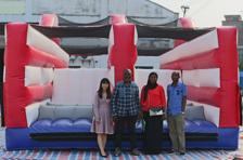 The customer once ordered bouncy castles placed their 3rd order for inflatable obstacle course