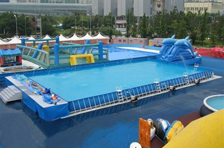 Movable steel frame swimming pools are pop and hot in China