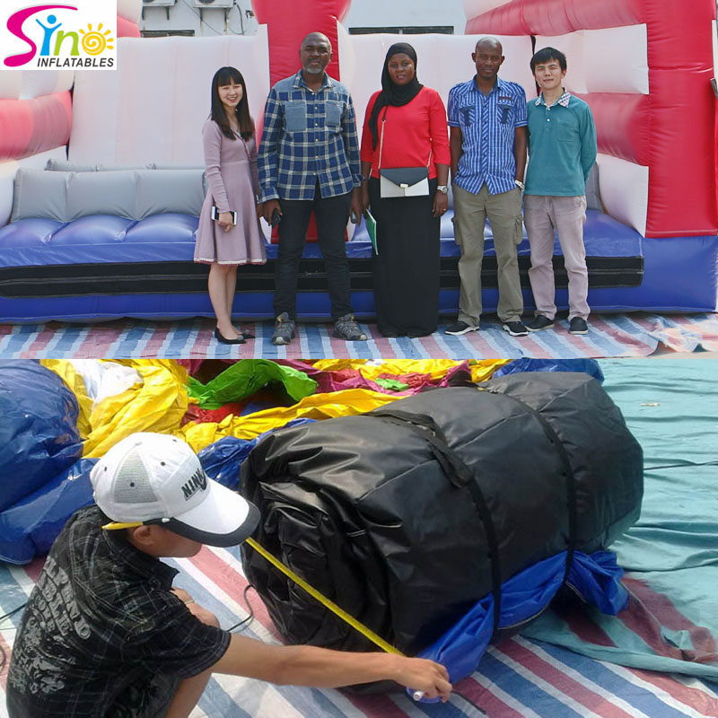 Sino Inflatables customers' QC on site