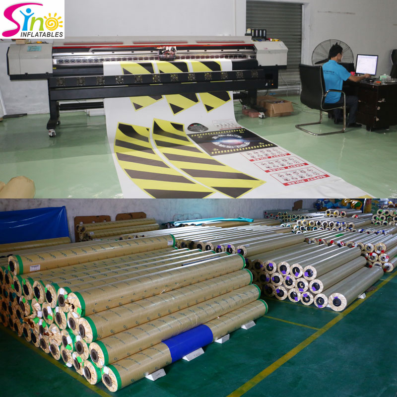 Sino Inflatables digital printing corner N warehouse corner